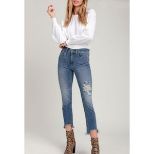 Levi's high rise straight cropped jeans SZ 26